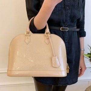 Louis Vuitton Hand Bag Alma Beiges Vernis
